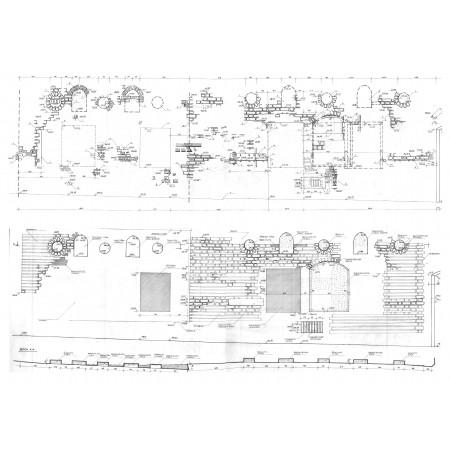 Gotiško fasado liekanu Švarco skg. tyrimai ir restauravimo darbo brežinys