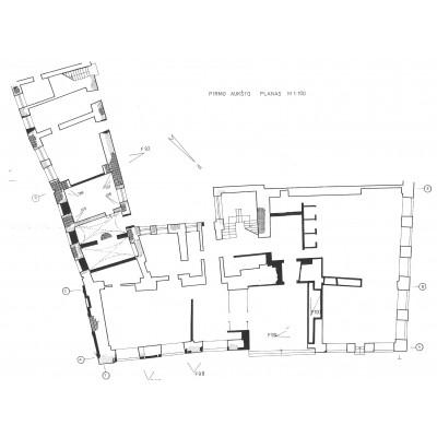 Didžioji g. 33 / Rūdninkų g. 2, Vilniuje Rudaminos namo, LDK iždo namo architektūros tyrimai